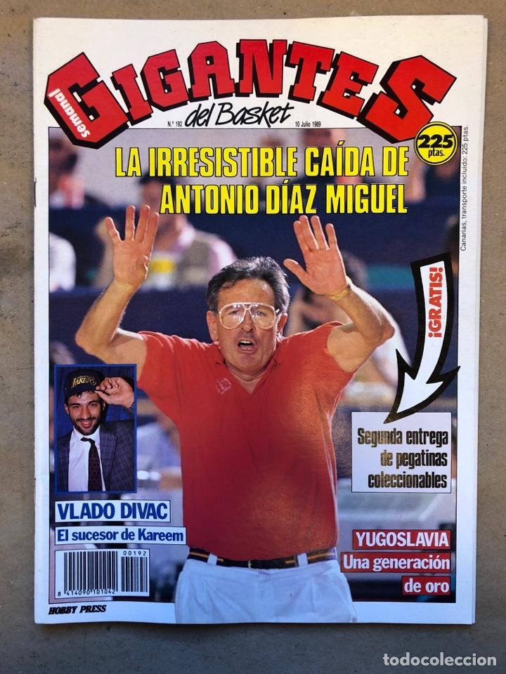 GIGANTES DEL BASKET N° 192 (1989). YUGOSLAVA GENERACIÓN DE ORO, DÍAZ MIGUEL, VLADO DIVAC A LAKERS, P (Coleccionismo Deportivo - Revistas y Periódicos - otros Deportes)