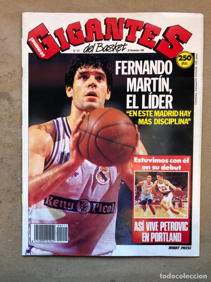 GIGANTES DEL BASKET N° 211 (1989). FERNANDO MARTÍN, DEBUT PETROVIC EN PORTLAND, POSTER MANUTE BOL,., (Coleccionismo Deportivo - Revistas y Periódicos - otros Deportes)