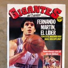 Coleccionismo deportivo: GIGANTES DEL BASKET N° 211 (1989). FERNANDO MARTÍN, DEBUT PETROVIC EN PORTLAND, POSTER MANUTE BOL,.,. Lote 149461416