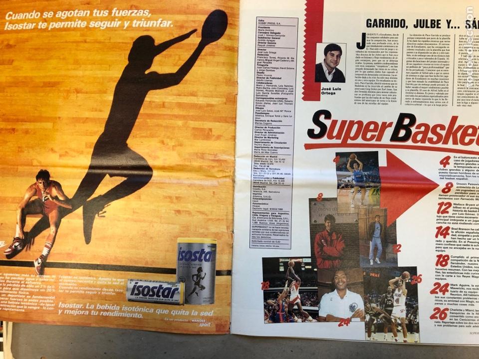 Coleccionismo deportivo: SÚPER BASKET N° 8 (1989). PETROVIC A FONDO, NBA, REPORTAJE CHARLOTTE Y MIAMI. POSTER CALENDARIO 1989 - Foto 2 - 149474836