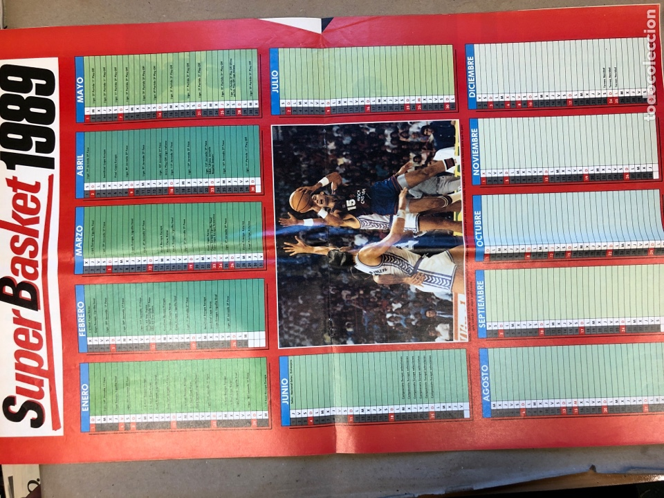 Coleccionismo deportivo: SÚPER BASKET N° 8 (1989). PETROVIC A FONDO, NBA, REPORTAJE CHARLOTTE Y MIAMI. POSTER CALENDARIO 1989 - Foto 3 - 149474836