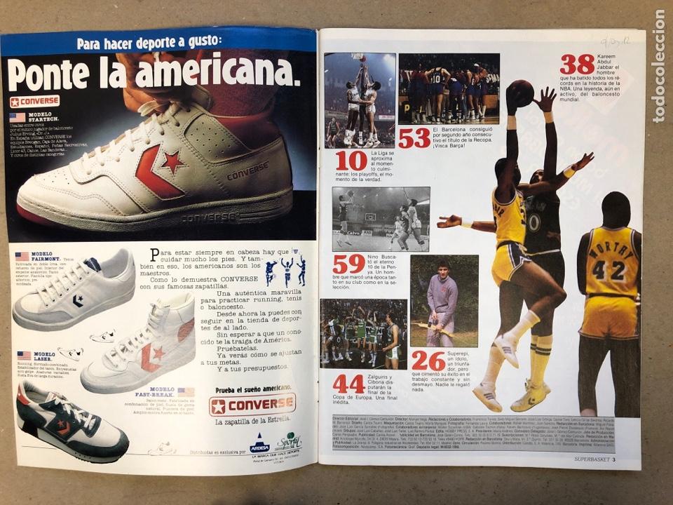 Coleccionismo deportivo: SUPERBASKET N° 2 (1986). ABDUL JABBAR, EPI, CELTICS - LAKERS, LOS MARGALL, POSTER GIGANTE KAREEM AB - Foto 2 - 149476010