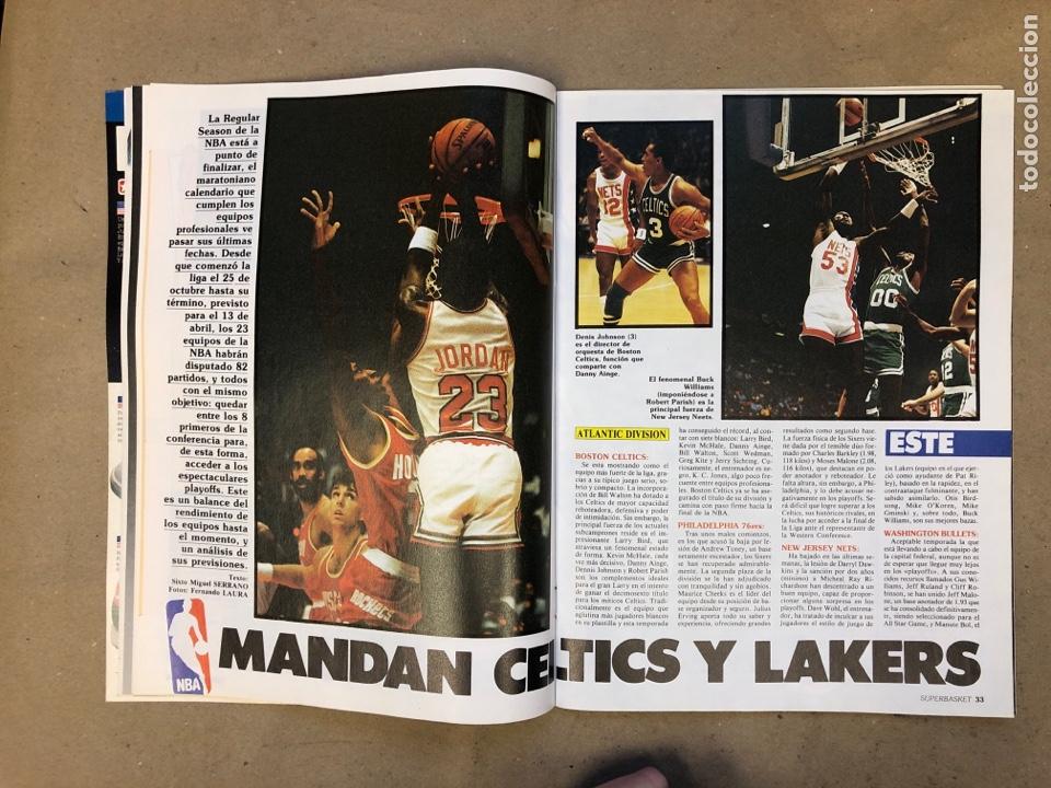 Coleccionismo deportivo: SUPERBASKET N° 2 (1986). ABDUL JABBAR, EPI, CELTICS - LAKERS, LOS MARGALL, POSTER GIGANTE KAREEM AB - Foto 5 - 149476010