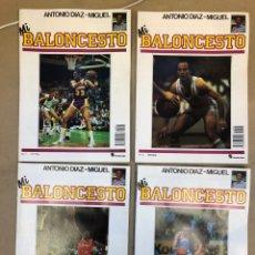 Coleccionismo deportivo: MI BALONCESTO POR ANTONIO DÍAZ MIGUEL. LOTE DE 4 COLECCIONABLES. REPORTAJES, POSTERS, TÁCTICA,... Lote 149476528
