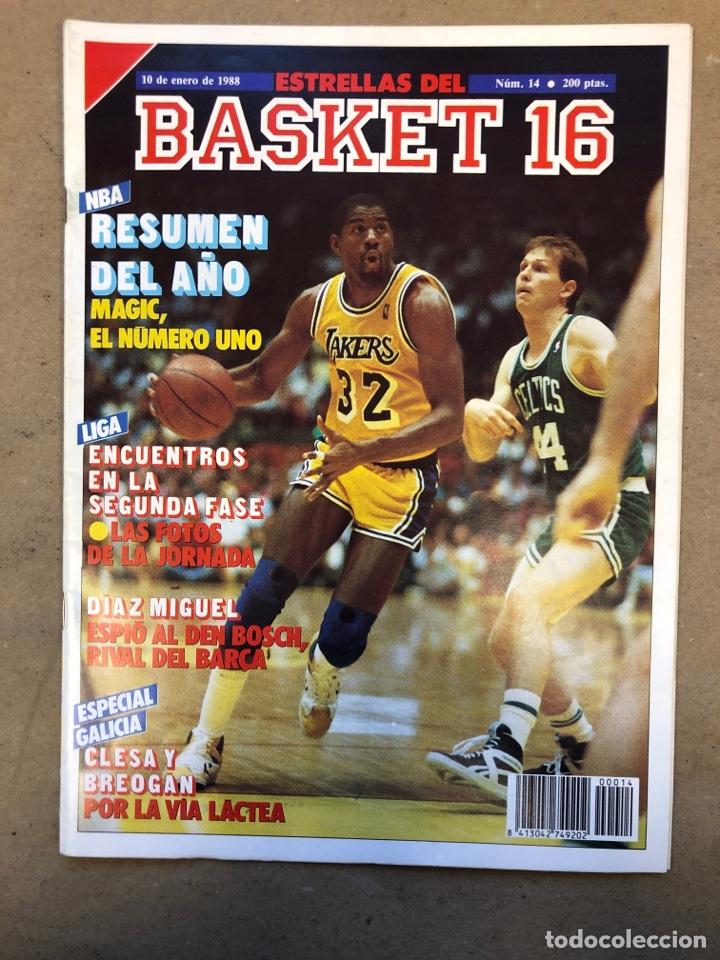 ESTRELLAS DEL BASKET N° 14 (1988). NBA RESUMEN DEL AÑO, MAGIC JOHNSON NÚMERO 1, ESPECIAL GALICIA (Coleccionismo Deportivo - Revistas y Periódicos - otros Deportes)