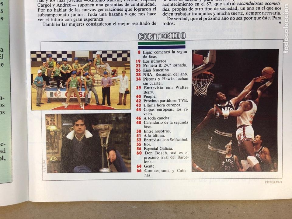Coleccionismo deportivo: ESTRELLAS DEL BASKET N° 14 (1988). NBA RESUMEN DEL AÑO, MAGIC JOHNSON NÚMERO 1, ESPECIAL GALICIA - Foto 2 - 149485264