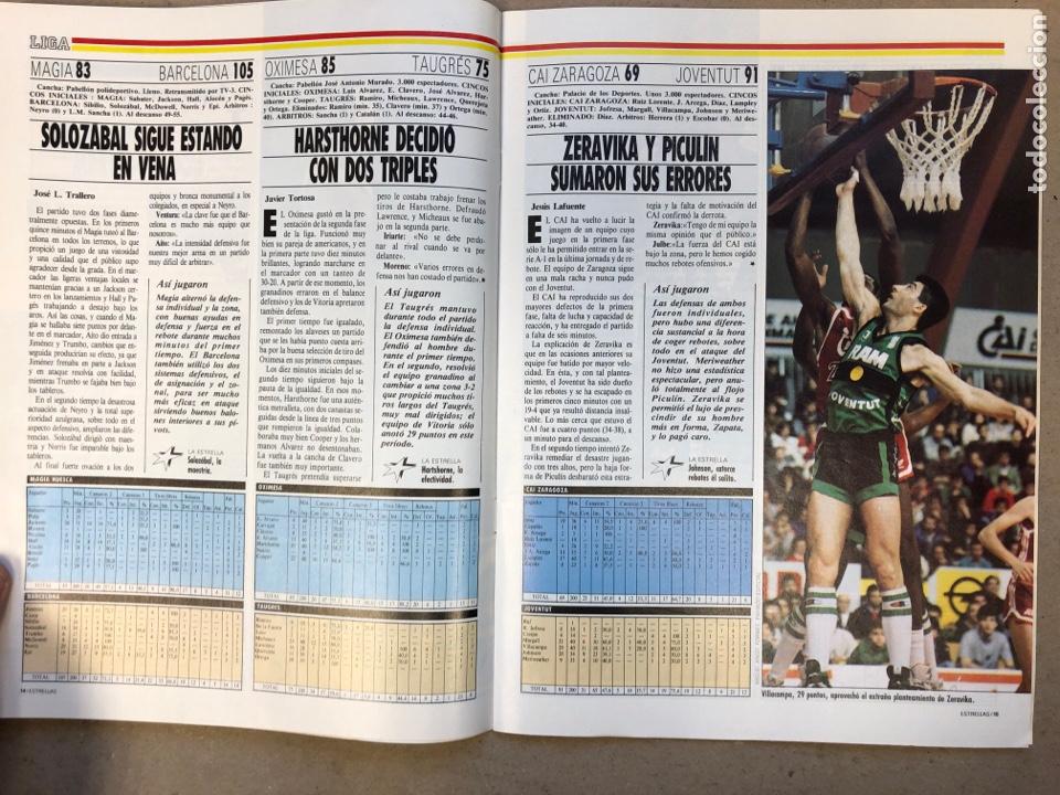 Coleccionismo deportivo: ESTRELLAS DEL BASKET N° 14 (1988). NBA RESUMEN DEL AÑO, MAGIC JOHNSON NÚMERO 1, ESPECIAL GALICIA - Foto 3 - 149485264