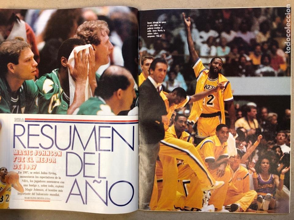Coleccionismo deportivo: ESTRELLAS DEL BASKET N° 14 (1988). NBA RESUMEN DEL AÑO, MAGIC JOHNSON NÚMERO 1, ESPECIAL GALICIA - Foto 4 - 149485264