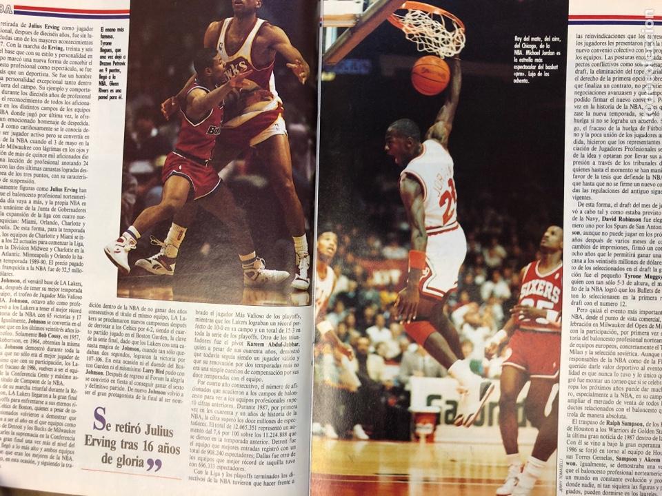 Coleccionismo deportivo: ESTRELLAS DEL BASKET N° 14 (1988). NBA RESUMEN DEL AÑO, MAGIC JOHNSON NÚMERO 1, ESPECIAL GALICIA - Foto 5 - 149485264