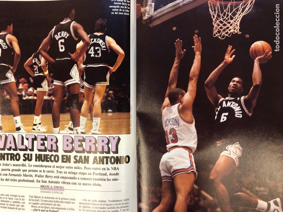 Coleccionismo deportivo: ESTRELLAS DEL BASKET N° 14 (1988). NBA RESUMEN DEL AÑO, MAGIC JOHNSON NÚMERO 1, ESPECIAL GALICIA - Foto 6 - 149485264
