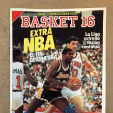 Coleccionismo deportivo: BASKET 16 N° 57 (1988). EXTRA NBA. DETROT Y DALLAS VS LAKERS Y CELTICS,.,. Lote 149488756