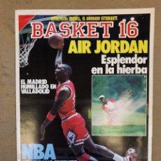Collectionnisme sportif: BASKET 16 N° 58 (1988). MICHAEL JORDAN, NBA CALENSARIO, ÚLTIMA HORA PLANTILLAS,... Lote 149489208