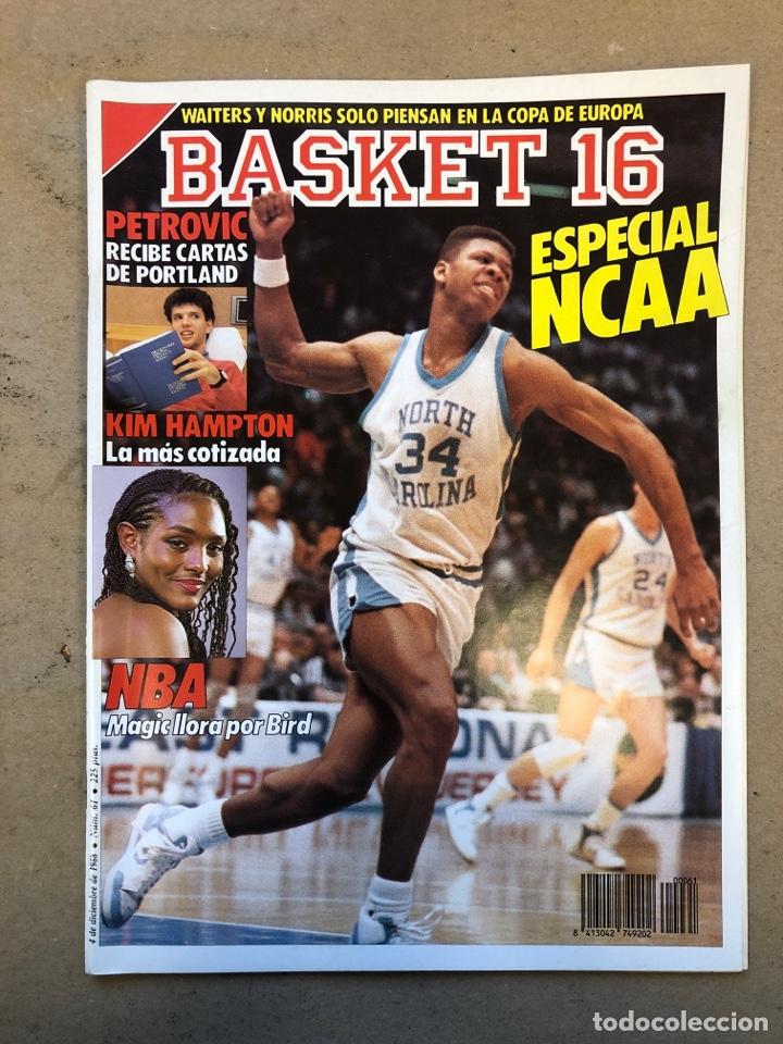BASKET 16 N° 61 (1988). ESPECIAL NCAA, PETROVIC, MAGIC LLORA POR BIRD,.,, (Coleccionismo Deportivo - Revistas y Periódicos - otros Deportes)