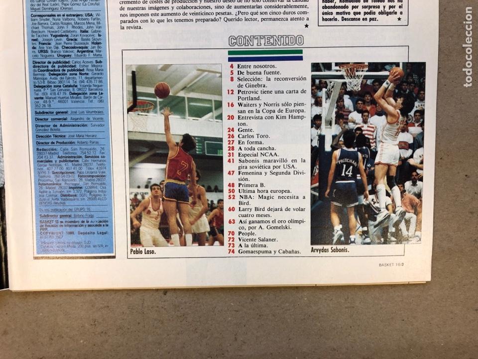 Coleccionismo deportivo: BASKET 16 N° 61 (1988). ESPECIAL NCAA, PETROVIC, MAGIC LLORA POR BIRD,.,, - Foto 2 - 149490125