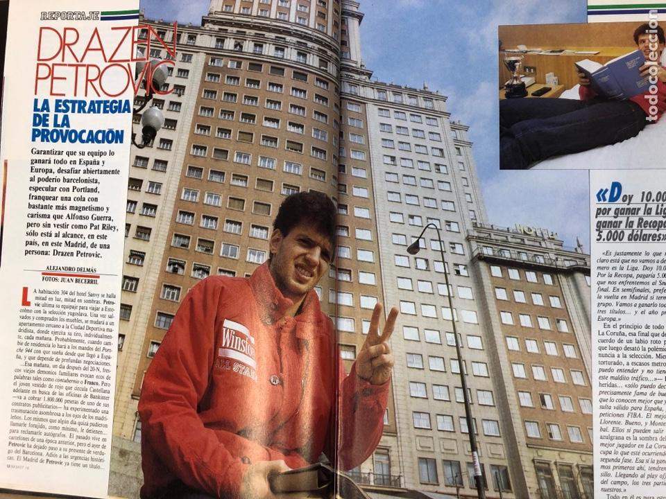 Coleccionismo deportivo: BASKET 16 N° 61 (1988). ESPECIAL NCAA, PETROVIC, MAGIC LLORA POR BIRD,.,, - Foto 4 - 149490125