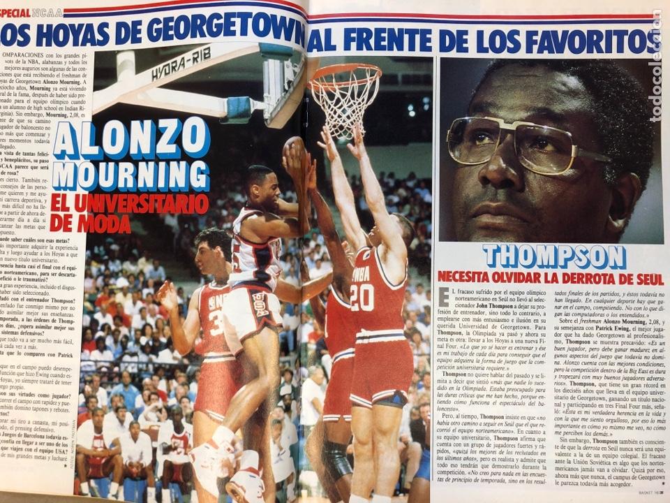 Coleccionismo deportivo: BASKET 16 N° 61 (1988). ESPECIAL NCAA, PETROVIC, MAGIC LLORA POR BIRD,.,, - Foto 7 - 149490125