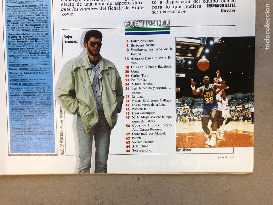 Coleccionismo deportivo: BASKET 16 N° 64 (1988). POSTER LARRY BIRD SEGÚN GALLEGO, NBA ISIAH VS WILKINS,.. - Foto 2 - 149491666