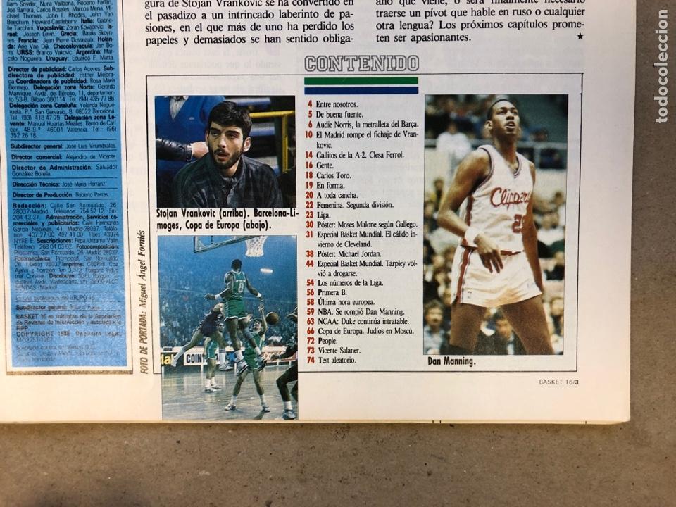 Coleccionismo deportivo: BASKET 16 N° 68 (1989). POSTERS MICHEL JORDAN Y MOSES MALONE SEGÚN GALLEGO, NORRIS,... - Foto 2 - 149495404