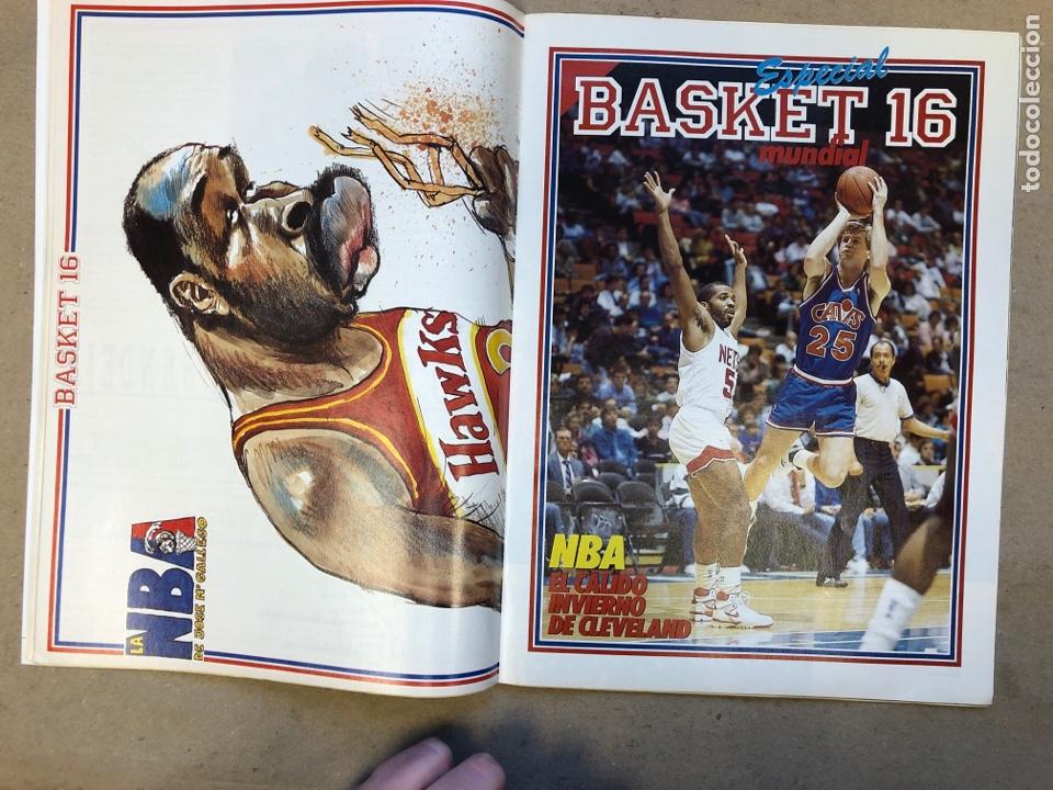 Coleccionismo deportivo: BASKET 16 N° 68 (1989). POSTERS MICHEL JORDAN Y MOSES MALONE SEGÚN GALLEGO, NORRIS,... - Foto 3 - 149495404