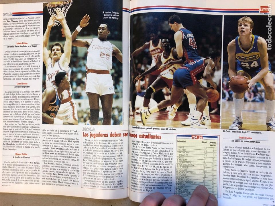 Coleccionismo deportivo: BASKET 16 N° 68 (1989). POSTERS MICHEL JORDAN Y MOSES MALONE SEGÚN GALLEGO, NORRIS,... - Foto 7 - 149495404