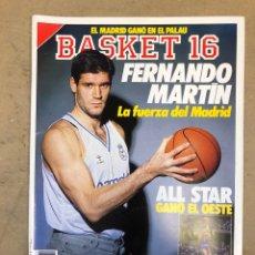 Coleccionismo deportivo: BASKET 16 N° 72 (1989). POSTER KEVIN PRICE SEGÚN GALLEGO, FERNANDO MARTÍN, ALL STAR GAME,... Lote 149497660