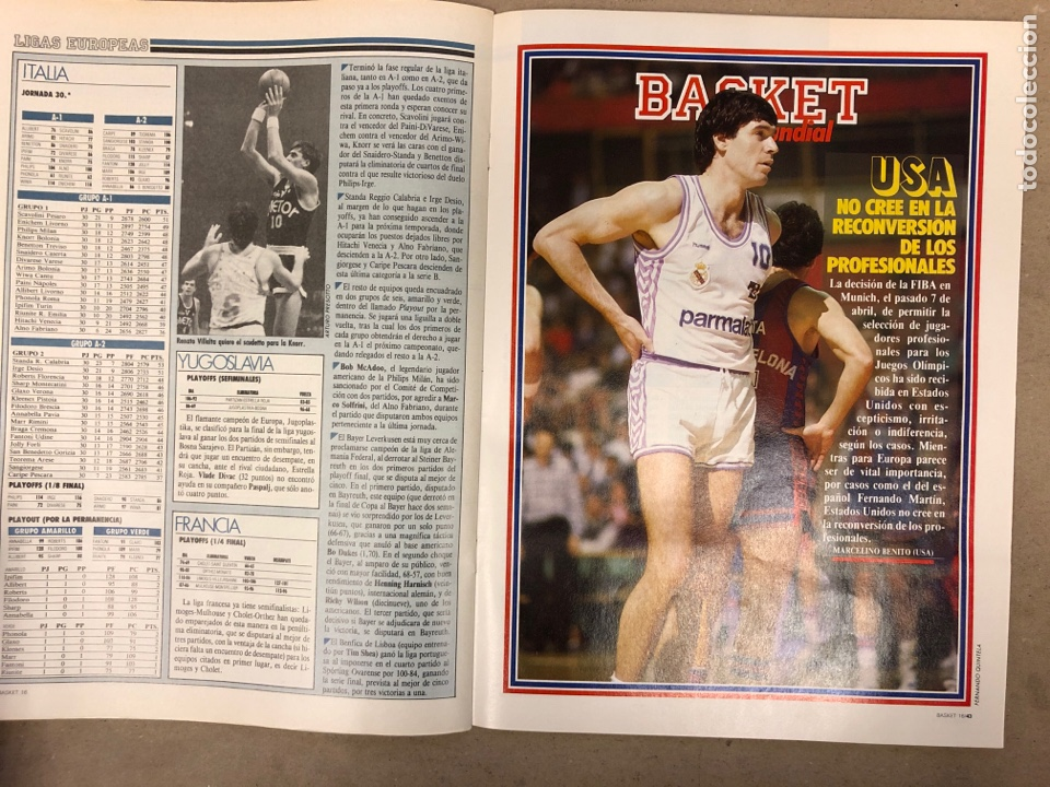 Coleccionismo deportivo: BASKET 16 N° 80 (1989). MIKE TYSON Vs MAGIC JOHNSON, KUKOC, SIBILIO,.. - Foto 4 - 149501432