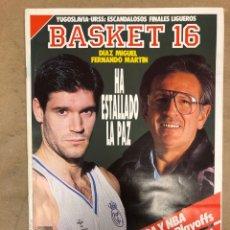 Coleccionismo deportivo: BASKET 16 N° 83 (1989). FERNANDO MARTÍN VS DÍAZ MIGUEL, ARRANCAN LOS PLAYOFFS,.... Lote 149502265