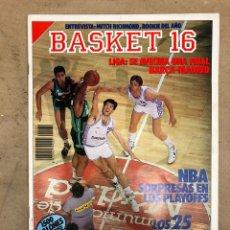 Coleccionismo deportivo: BASKET 16 N° 84 (1989). PLAYOFFS NBA, 25 JUGADORES MÁS CODICIADOS DE ESPAÑA,... Lote 149503029