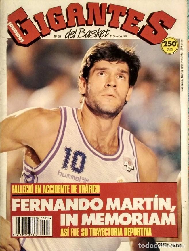 Coleccionismo deportivo: Fernando Martín - Coleccionable de Gigantes (2000) + Muerte (1989) + otras - Foto 15 - 130140043