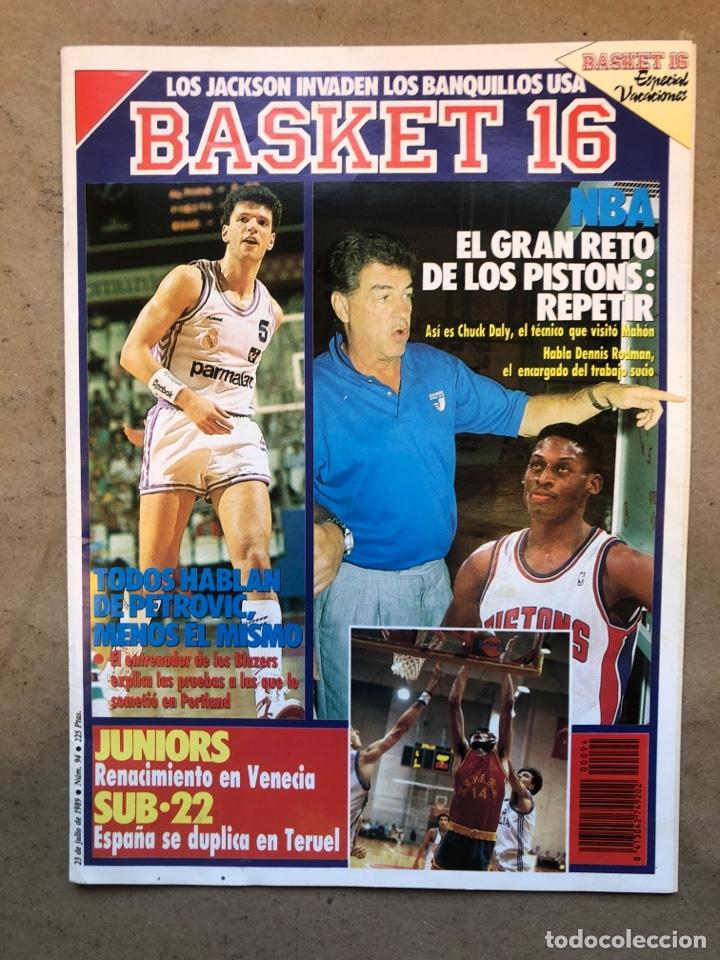 BASKET 16 N° 94 (1989). PETROVIC, DETROIT PISTONS,... (Coleccionismo Deportivo - Revistas y Periódicos - otros Deportes)