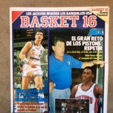 Coleccionismo deportivo: BASKET 16 N° 94 (1989). PETROVIC, DETROIT PISTONS,.... Lote 149811556