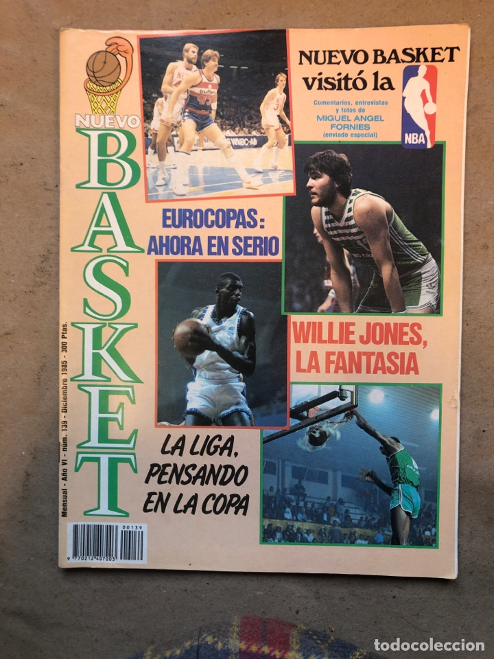 REVISTA NUEVO BASKET N° 139 (1985). OSO PINONE, MANUTE BOL, POSTER JOSÉ LUIS LLORENTE,.. (Coleccionismo Deportivo - Revistas y Periódicos - otros Deportes)