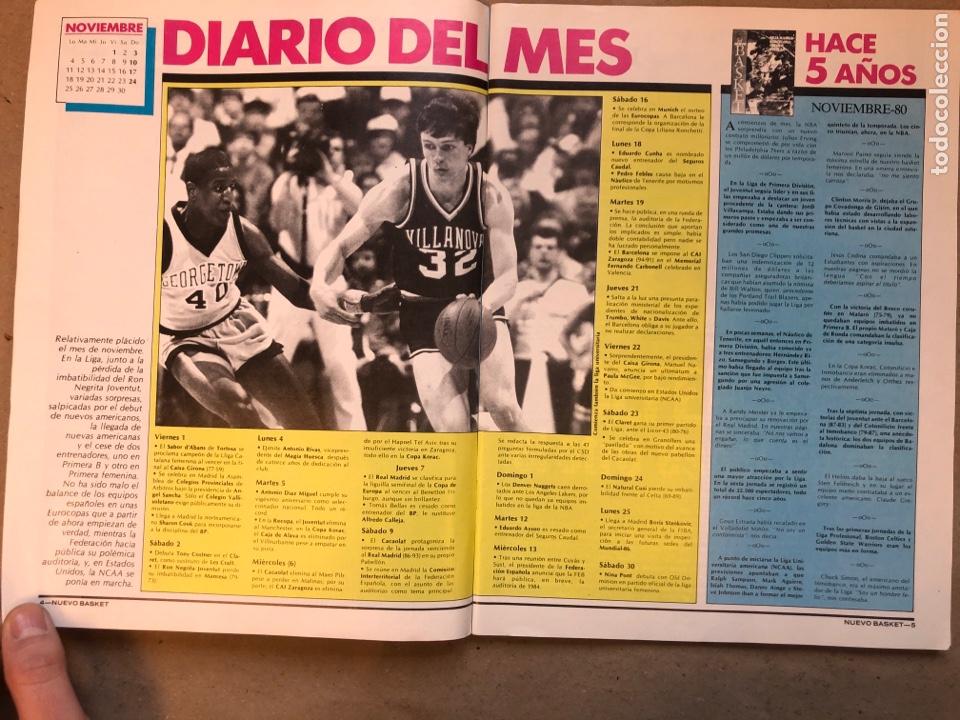 Coleccionismo deportivo: REVISTA NUEVO BASKET N° 139 (1985). OSO PINONE, MANUTE BOL, POSTER JOSÉ LUIS LLORENTE,.. - Foto 3 - 149816652