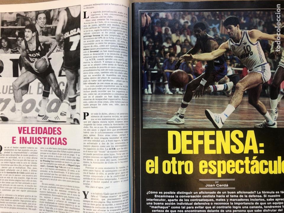 Coleccionismo deportivo: REVISTA NUEVO BASKET N° 139 (1985). OSO PINONE, MANUTE BOL, POSTER JOSÉ LUIS LLORENTE,.. - Foto 4 - 149816652