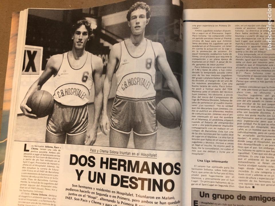 Coleccionismo deportivo: REVISTA NUEVO BASKET N° 139 (1985). OSO PINONE, MANUTE BOL, POSTER JOSÉ LUIS LLORENTE,.. - Foto 5 - 149816652