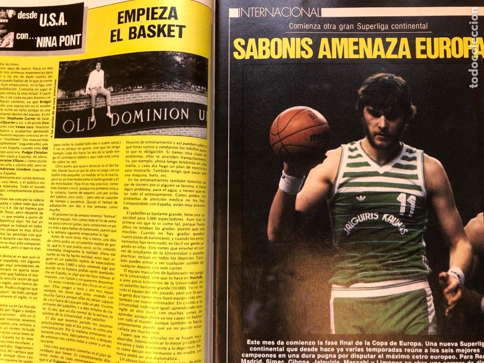 Coleccionismo deportivo: REVISTA NUEVO BASKET N° 139 (1985). OSO PINONE, MANUTE BOL, POSTER JOSÉ LUIS LLORENTE,.. - Foto 6 - 149816652