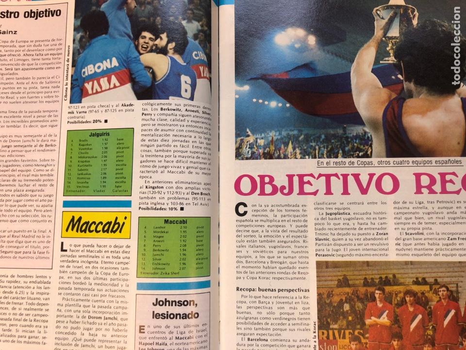 Coleccionismo deportivo: REVISTA NUEVO BASKET N° 139 (1985). OSO PINONE, MANUTE BOL, POSTER JOSÉ LUIS LLORENTE,.. - Foto 7 - 149816652