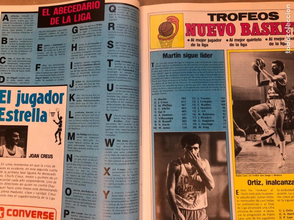 Coleccionismo deportivo: REVISTA NUEVO BASKET N° 139 (1985). OSO PINONE, MANUTE BOL, POSTER JOSÉ LUIS LLORENTE,.. - Foto 8 - 149816652