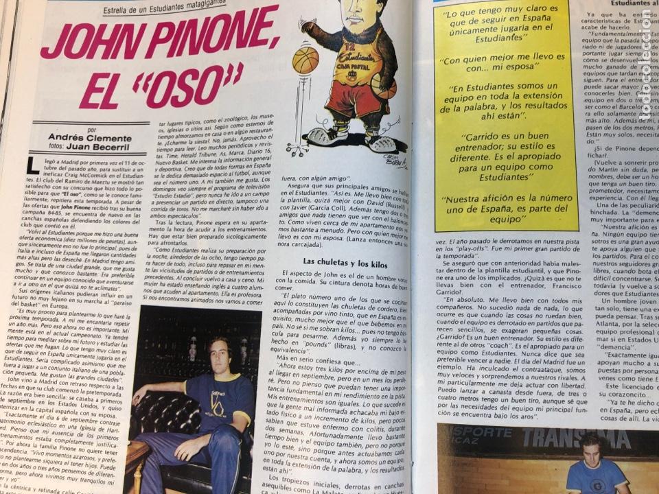 Coleccionismo deportivo: REVISTA NUEVO BASKET N° 139 (1985). OSO PINONE, MANUTE BOL, POSTER JOSÉ LUIS LLORENTE,.. - Foto 9 - 149816652