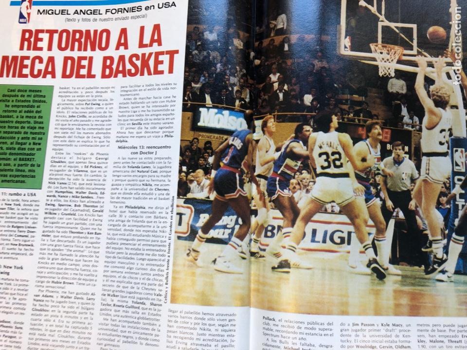Coleccionismo deportivo: REVISTA NUEVO BASKET N° 139 (1985). OSO PINONE, MANUTE BOL, POSTER JOSÉ LUIS LLORENTE,.. - Foto 11 - 149816652