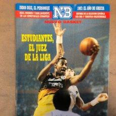 Coleccionismo deportivo: NUEVO BASKET N° 166 (1987). ESTUDIANTES, REAL MADRID Y RAM JOVENTUT, INDIO DÍAZ, HISTORIA DE LA SELE. Lote 174569945