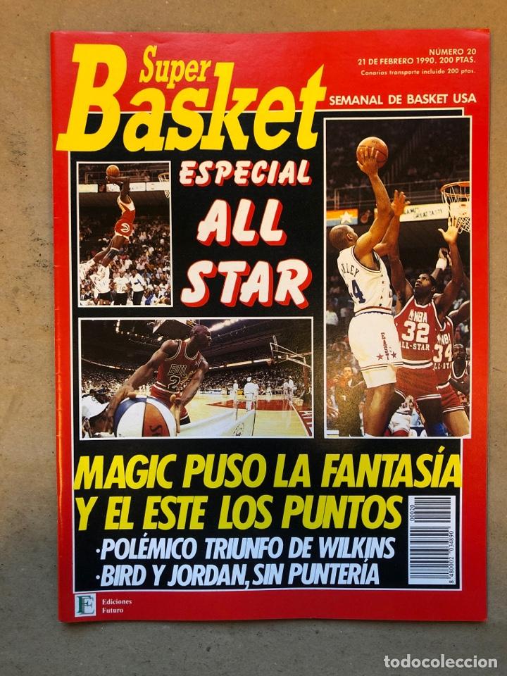 SÚPER BASKER N° 20 (1990). ESPECIAL ALL STAR MIAMI '90, POSTER EWING,.. (Coleccionismo Deportivo - Revistas y Periódicos - otros Deportes)