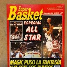 Coleccionismo deportivo: SÚPER BASKER N° 20 (1990). ESPECIAL ALL STAR MIAMI '90, POSTER EWING,... Lote 149930292