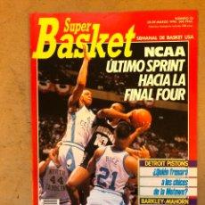 Coleccionismo deportivo: SÚPER BASKET N° 25 (1990). DETROIT PISTONS, LOS VIOLENTOS SIXSERS (BARKLEY-MAHORN), POSTER CHUCK PER. Lote 149934025
