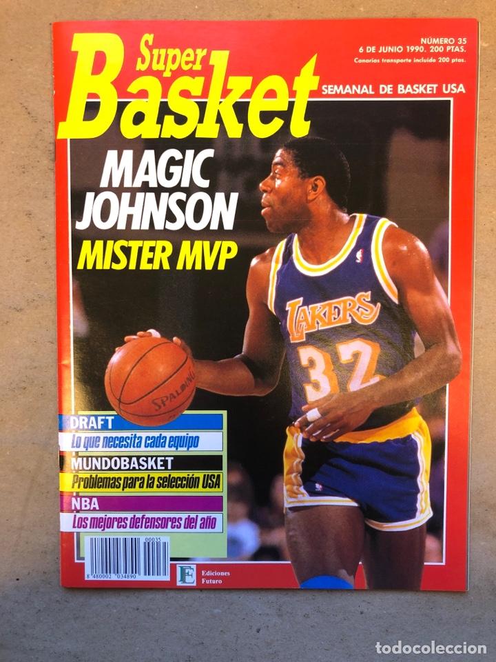 SÚPER BASKET N° 35 (1990). MAGIC JOHNSON MSITRR MVP, DRAFT, MUNDOBASKET, POSTER CRAIG EHLO,... (Coleccionismo Deportivo - Revistas y Periódicos - otros Deportes)