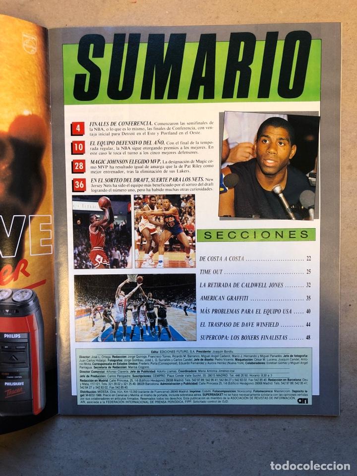 Coleccionismo deportivo: SÚPER BASKET N° 35 (1990). MAGIC JOHNSON MSITRR MVP, DRAFT, MUNDOBASKET, POSTER CRAIG EHLO,... - Foto 2 - 149942892