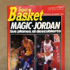 Coleccionismo deportivo: SÚPER BASKET N° 63 (1991). MAGIC JOHNSON, MICHAEL JORDAN, POSTER M. JORDAN,... Lote 149973321