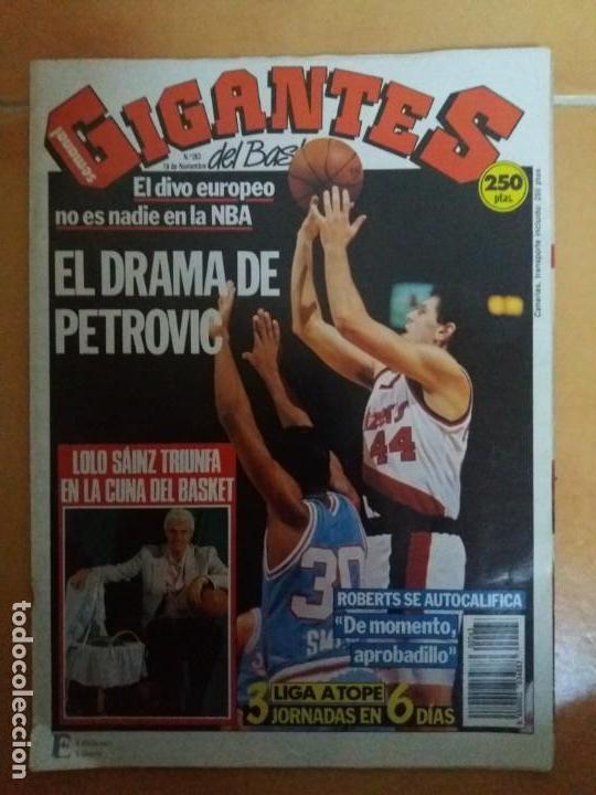 REVISTA GIGANTES DEL BASKET. Nº263. DRAZEN PETROVIC. (Coleccionismo Deportivo - Revistas y Periódicos - otros Deportes)