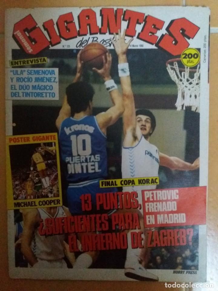 GIGANTES DEL BASKET. MARZO 1988. FINAL COPA KORAC. DRAZEN PETROVIC (Coleccionismo Deportivo - Revistas y Periódicos - otros Deportes)