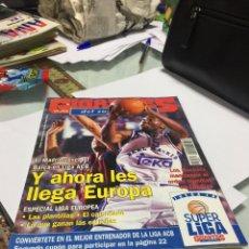 Coleccionismo deportivo: REVISTA GIGANTES DEL SUPERBASKET NÚMERO 521 1995 EUROPA SIN FICHA INTERIOR. Lote 150758130